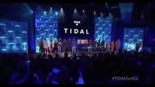 Beyoncé, Rihanna, Nicki Minaj, Madonna, Usher, Calvin Harris Tidal Press Conference 2015