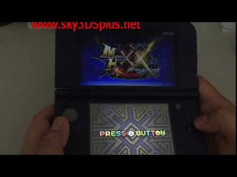 Sky3DS+ firmware V140 and skyDock are released, supporting Monster Hunter XX online play