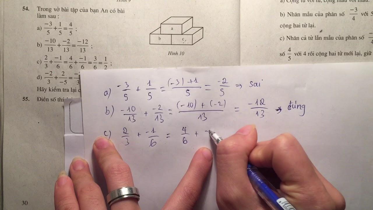 Giải bài 54 trang 30 SGK toán 6 tập 2