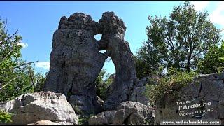 Ardèche - Randonnée Bois de Paiolive - Chemin de la vierge (4K)
