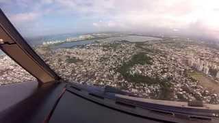 ATR-72 Approach and Landing San Juan Puerto Rico TJSJ