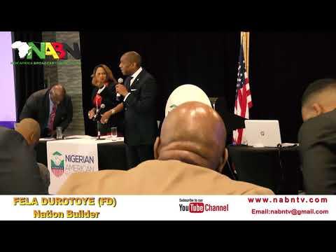 FELA DUROTOYE'S FULL  SPEECH AT NABF CONFERENCE   TAMPA,FLORIDA