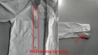 Cara membuat pola dan menjahit baju kemeja anak laki laki BAGIAN X