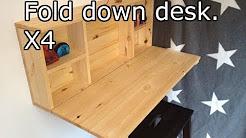 Wooden fold down desk