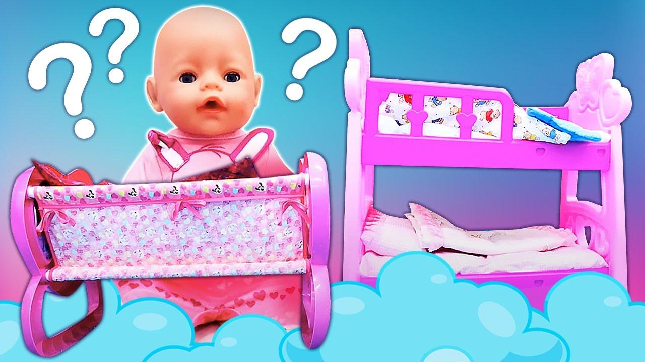 ¿Una cuna o una litera? Como mamá. Juguete Baby Born en español