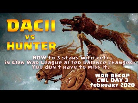 Dacii Vs Hunter   INSANE NEW CWL Season   MAXED TH13   Clan War League Base   ( Clash Of Clans)