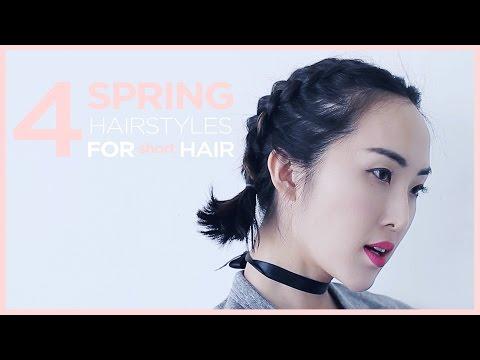 4 Spring Hairstyles for Short Hair | Chriselle Lim