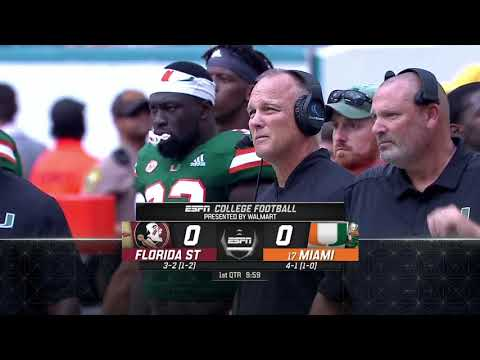 NCAAF - Florida State At Miami (2018)
