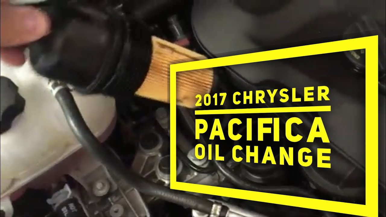 2017 chrysler pacifica oil change short quick video [ 1280 x 720 Pixel ]
