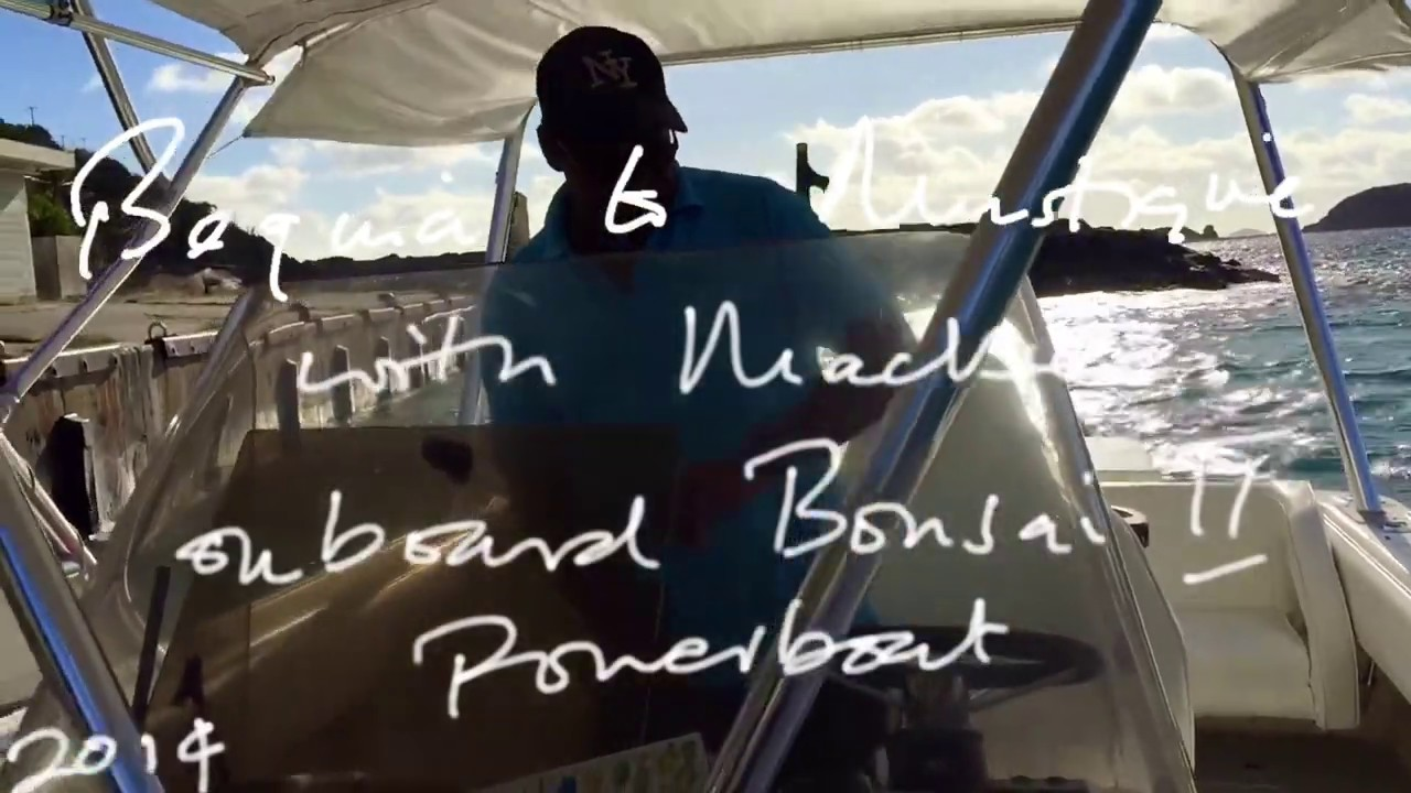 Bequia to Mustique aboard the Bonsai II powerboat with Mackie