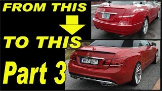 Gambar cover Mercedes E-class W207 facelift rear bumper and quad AMG exhaust pipes install. Part 3