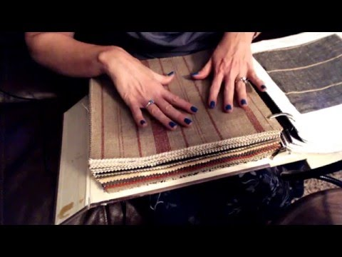 ASMR Whisper Role Play ~ Interior Design & Fabric Swatches ~