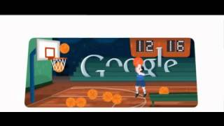 London 2012 Basketball Record  Google Doodle  48 Points