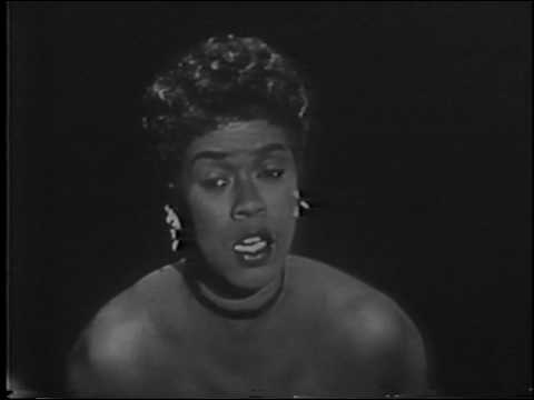 Sarah Vaughan, Tommy and Jimmy Dorsey--1956 TV, Over the Rainbow