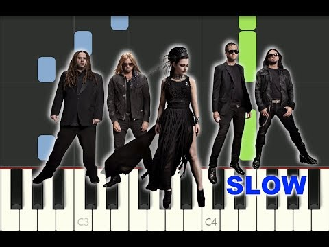 "SLOW piano tutorial ""BRING ME TO LIFE"" Evanescence, with free sheet music thumbnail"