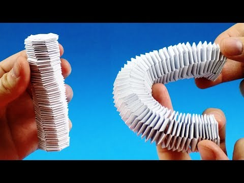 How to make a paper Slinky Keychain