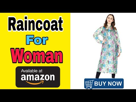 5 Best Fashionable Women's Raincoat | Ladies RainWear | Raincoats Design 2020