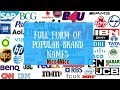 GK PSC | Important full forms of popular brand names | What is the full form of eg?