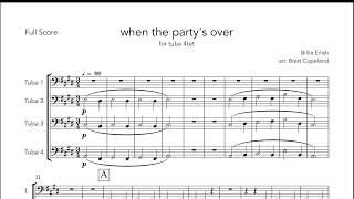 when the party's over - Billie Eilish for tuba quartet (arr. Brett Copeland)