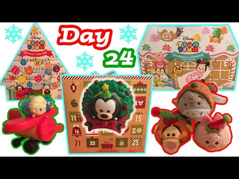 Tsum Tsum Advent Calendar Craze DAY 24 Christmas Holiday Tsum Tsum Plush + Figure Toy Surprises