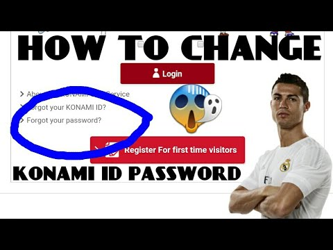 HOW TO CHANGE OR FORGET YOUR KONAMI ID PASSWORD STEP BY STEP😎 || PES  Mobile Professional