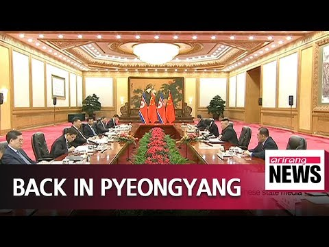 N. Korean leader arrives in Pyongyang after visit to China:
