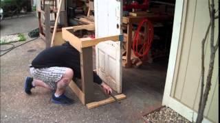 Diy Gardening Bench From Old Door And Reclaimed Lumber