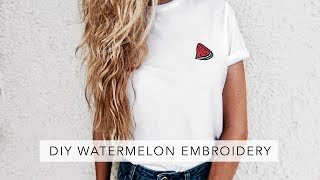 DIY Easy Embroidered T-Shirt | Sofia Clara