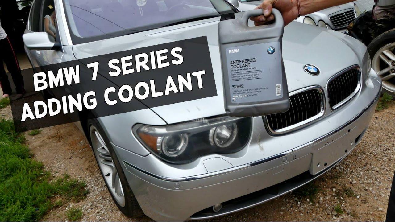 Bmw E65 E66 How To Add Coolant Low Coolant Level Youtube