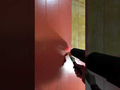 remove latex paint from wood paneling with heat gun