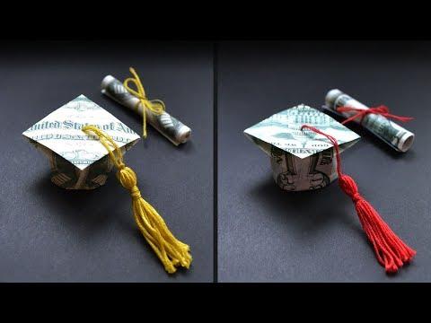 FULL TUTORIAL | My Money GRADUATION CAP with tassel and DIPLOMA | Origami Dollar DIY by NProkuda