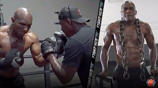 EVANDER HOLYFIELD INTENSIFIES TRAINING FOR COMEBACK! LOOKS JACKED AT 57!