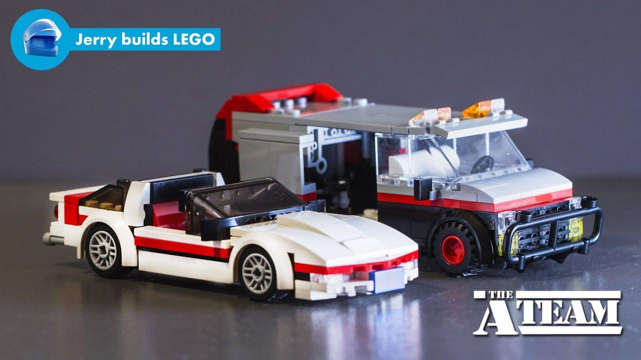 LEGO The A-Team GMC Vandura and Corvette C4 instructions ...
