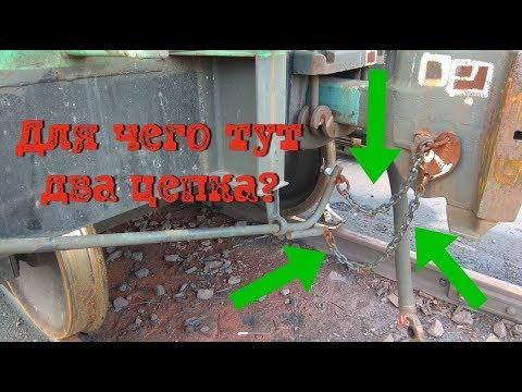 Для чего нужны две цепочки на автосцепке вагона!! Rail transport.