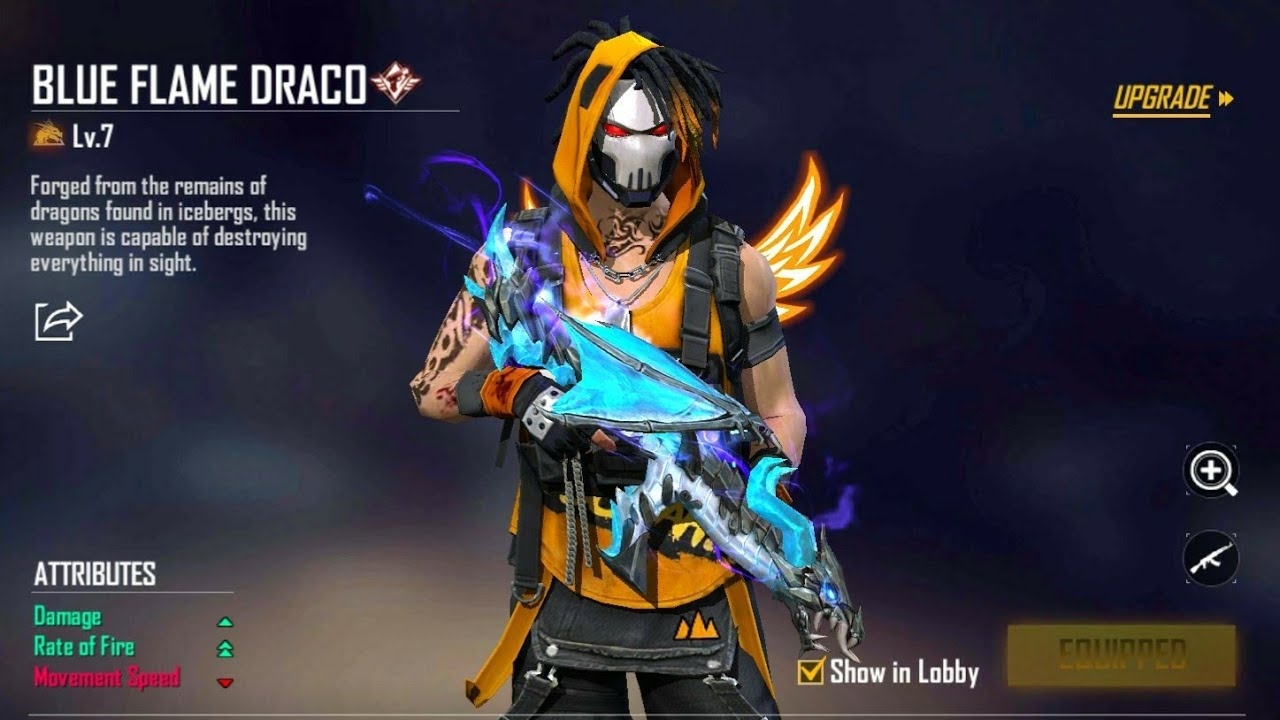 How To Evolve Blue Flame Draco AK | Free Fire