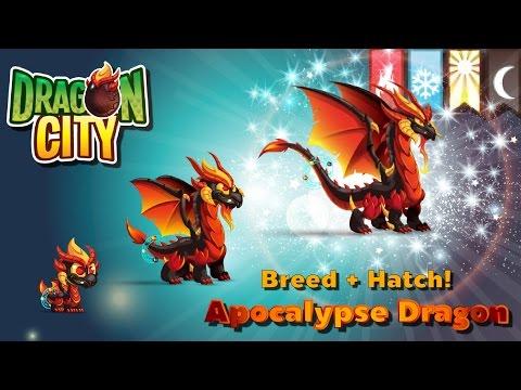 [Dragon City] ผสม + ฟักไข่มังกรคัมภีร์ศักดิ์สิทธิ์ 4 ธาตุ Breed + Hatch Apocalypse Dragon   amSiNE
