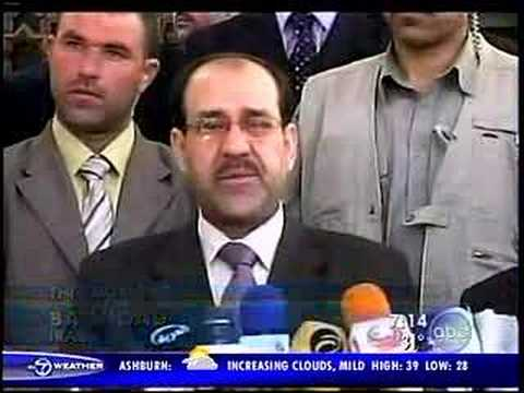 Nouri al-Maliki reacts to bomb killing 70 people