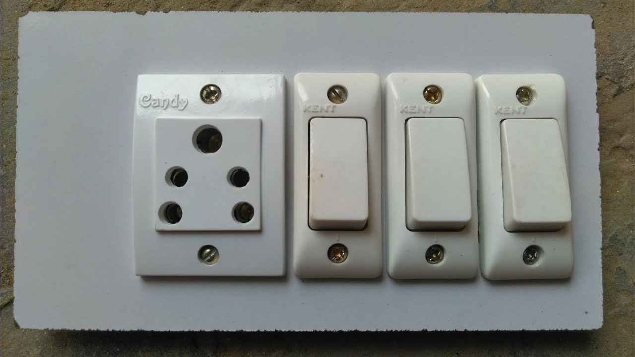 3 Switch 1 Socket Connection,7×4 Board connection,1Socket 3 Switch ...