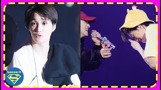 EXO' Chen went Over to Hug Kai...The Moment He Shot Him with a Water Gun in the Face