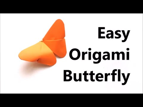 Easy Origami Butterfly - Origami Tutorial For Beginners - Paper Butterfly DIY | Craft Haven