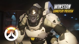 Winston Gameplay Preview | Overwatch | 1080p HD, 60 FPS
