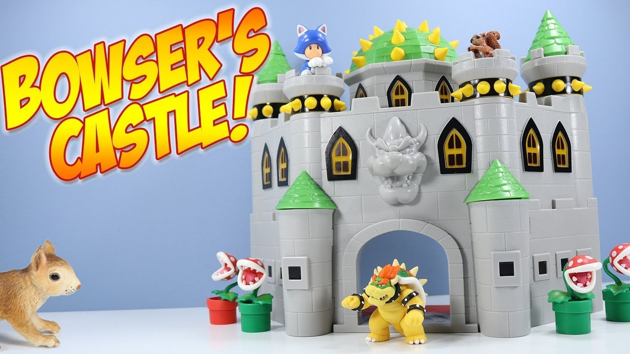 Super Mario Deluxe Bowser S Castle Playset World Of Nintendo Toys