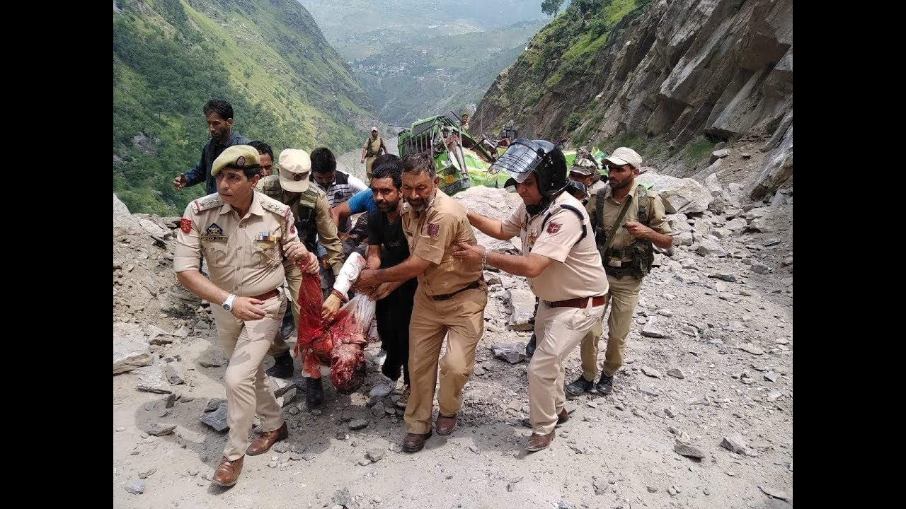 Image result for Seven Dead as Landslide hits Two vehicles in Kishtwar