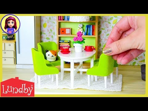 Lundby Smaland Dolls House with with Working Lights! Setup Tour with Furniture   Kids Toys