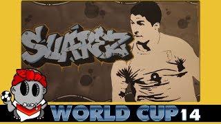 World Cup 2014 Graffiti - Luis Suárez (Uruguay)