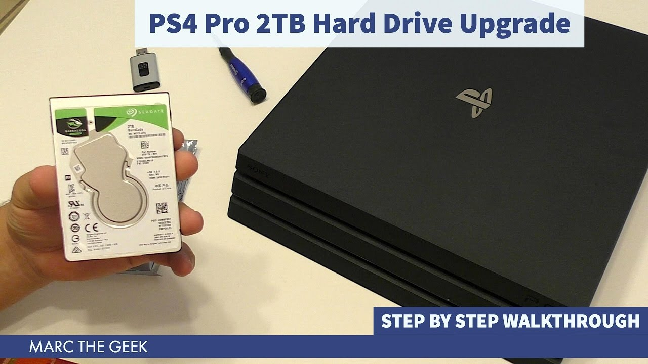 ps4 pro 2tb hard drive step by step upgrade youtube. Black Bedroom Furniture Sets. Home Design Ideas