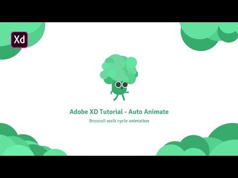 Adobe XD Tutorial - Auto Animate Broccoli Walk Cycle Animation thumbnail