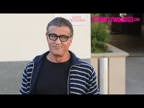 Sylvester Stallone Signs Autographs For Fans After Lunch In Beverly Hills 12.19.16