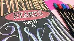 Chalkboard Hand Lettering Tutorial Tafeldesign edding 1200 metallic
