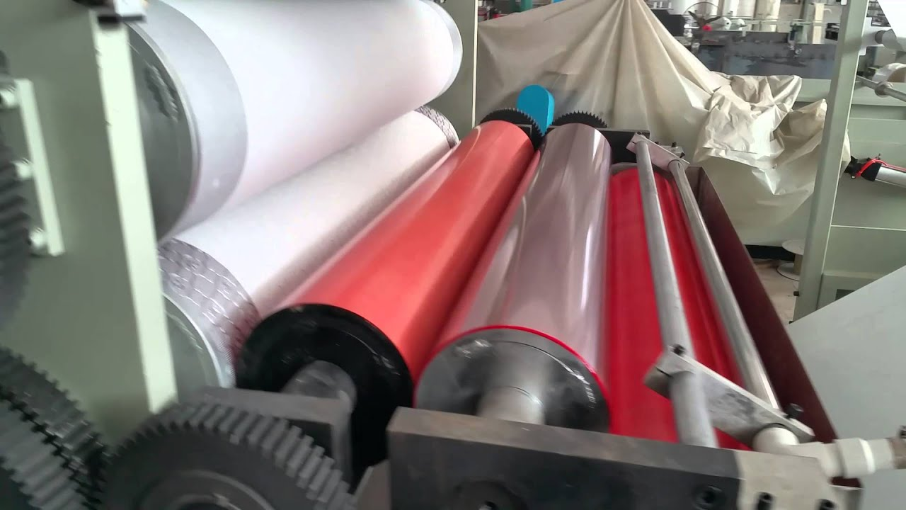 automatic color embossing and glue lamination toilet paper and kitchen towel making machine